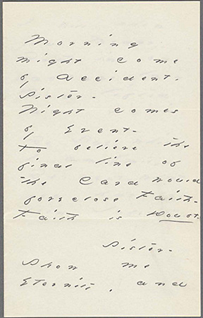Emily Dickinson: A.L. and poem. to Susan Huntington Dickinson (Houghton Library B90 p.1)